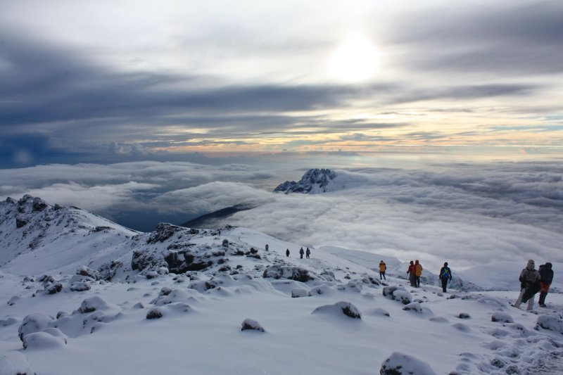 Snowy Kilimanjaro summit
