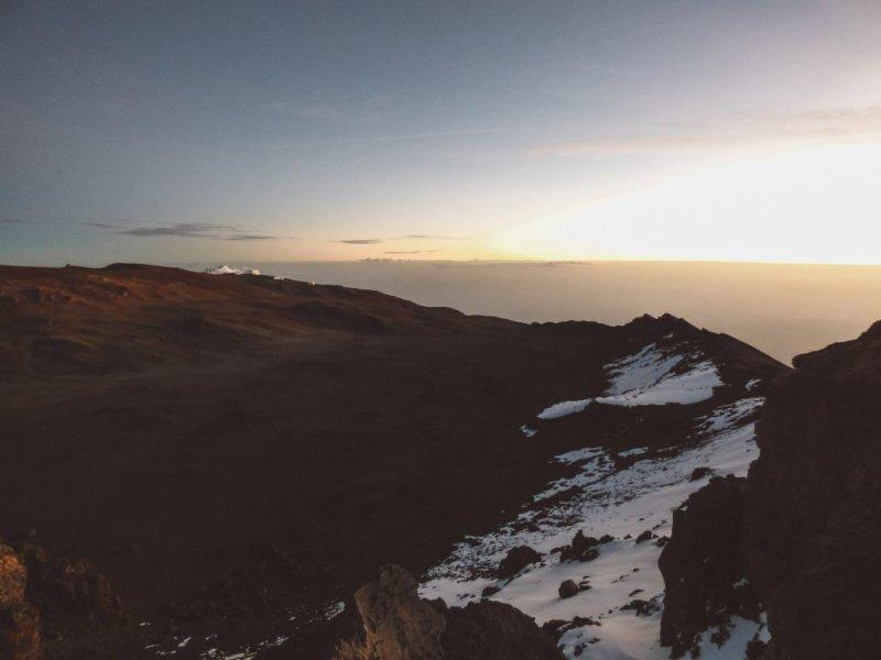 Kilimanjaro summit morning sun adventure climb