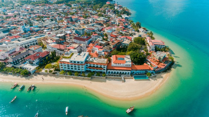 Aerial view of Stone Town