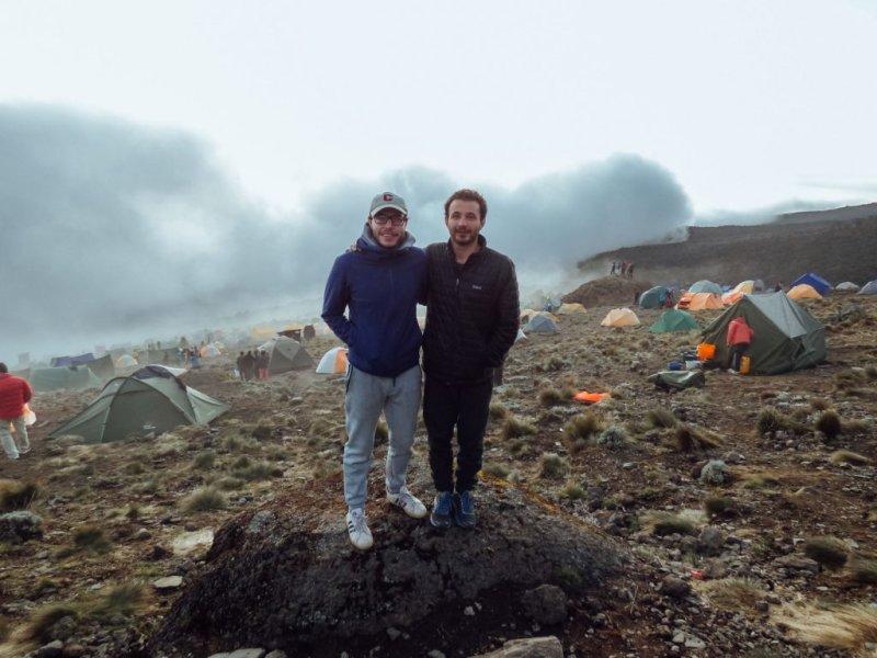 Smiling guys at Kilimanjaro camp