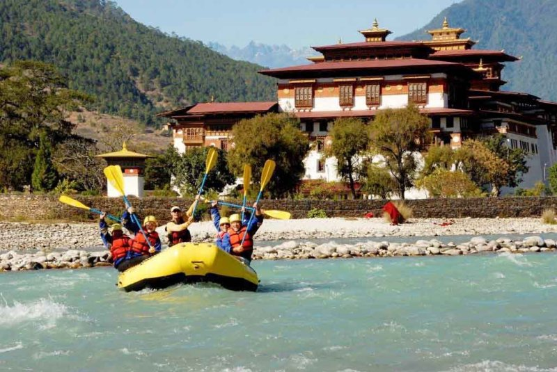 River rafting adventure in Bhutan