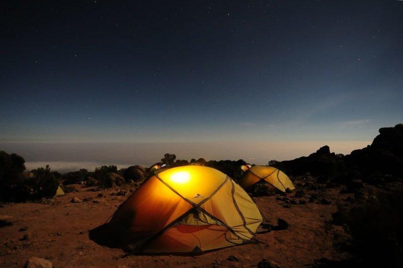 Night-time at Pofu Camp on Kilimanjaro