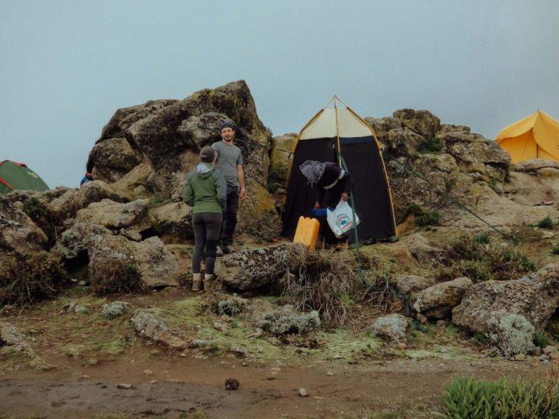 Follow Alice toilet tent on Mt Kilimanjaro