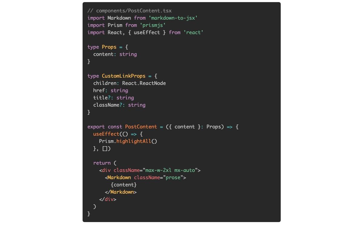 Next.js + Prism.jsでコードのSyntax Highlightをする