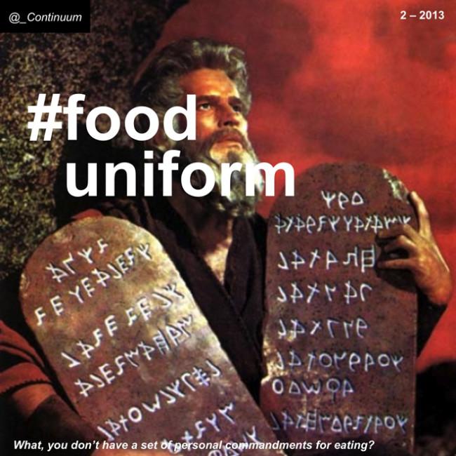NXT #fooduniform