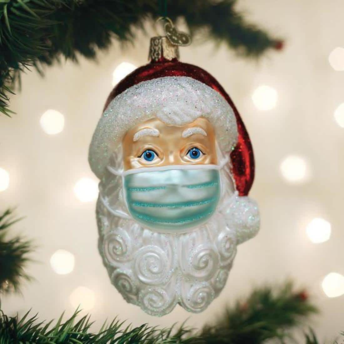Santa ornament with mask