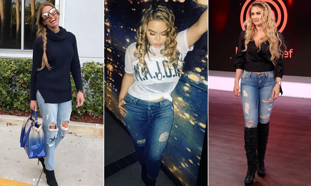 Las Famosas Nos Muestran Como Usar Jeans Rotos Fotos Mamaslatinas Com