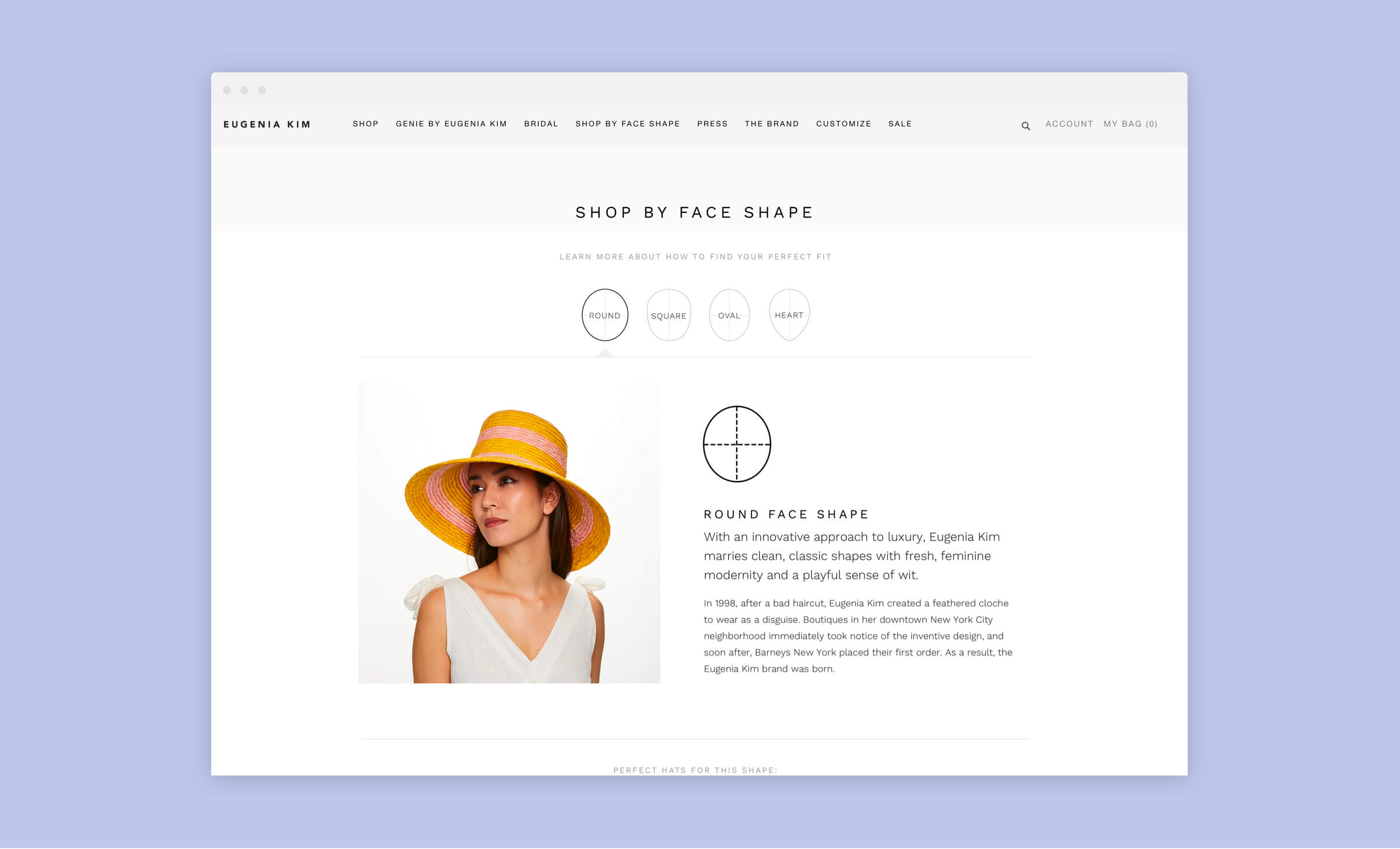 eugenia kim shop by face shape page