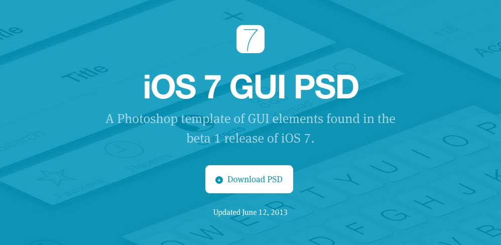 iOS7 PSD Templates