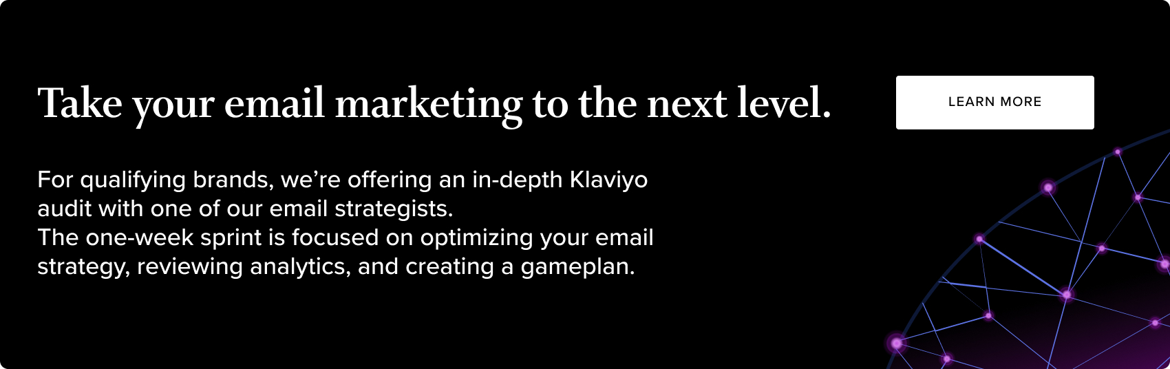 Take your email marketing to the next level.