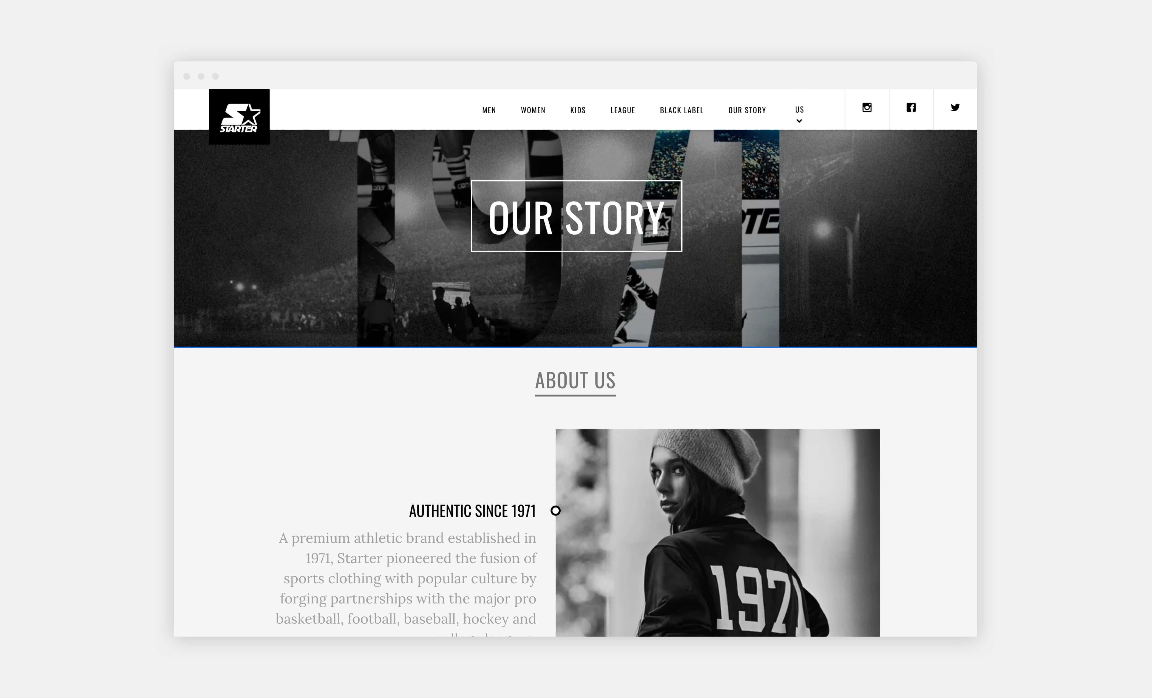 starter wordpress website about us page