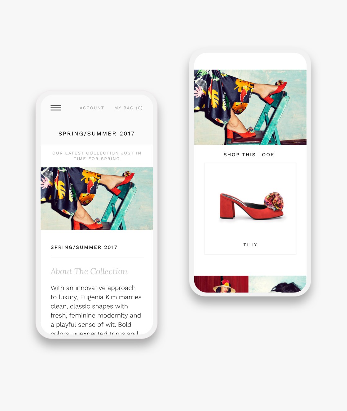 eugenia kim shop the look mobile pages on smartphones