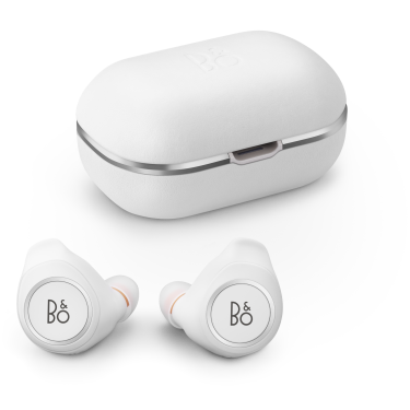 Beoplay E8 - Motion white case and headphones