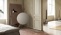 A pair of Beolab 50 home speakers in a living room setting