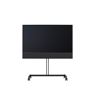 Beovision Horizon TV on wheel stand for flexible living by Bang & Olufsen