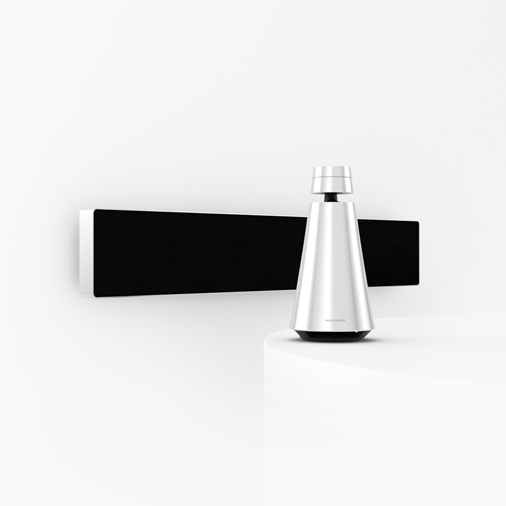 Beosound Stage and Beosound 1 in natural aluminium