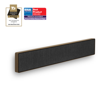 Beosound Stage Smoked Oak Grey - Dolby Atmos Soundbar with Subwoofer