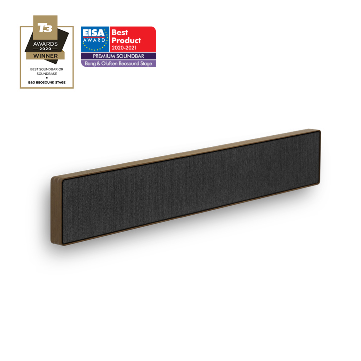Beosound Stage Smoked Oak Grey - Dolby Atmos Soundbar mit Subwoofer