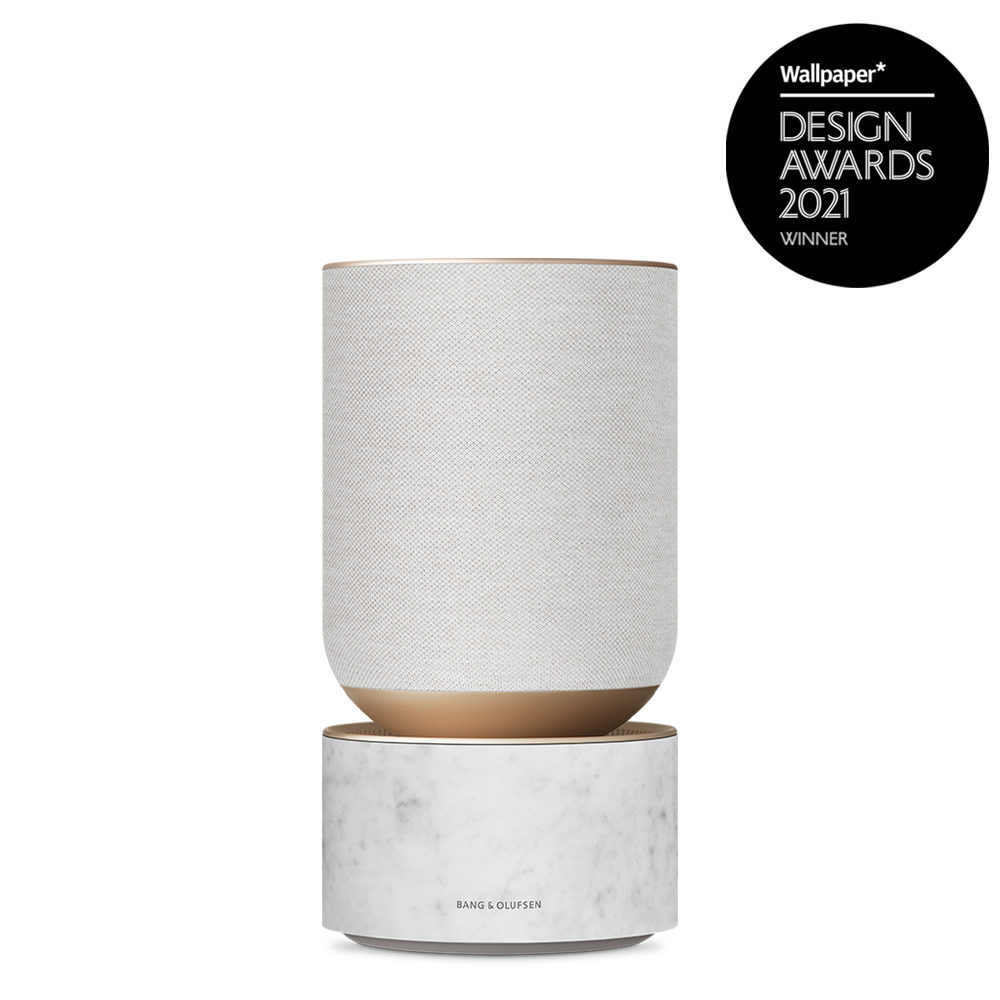 Beosound Balance Goldtone with Wallpaper Design Award