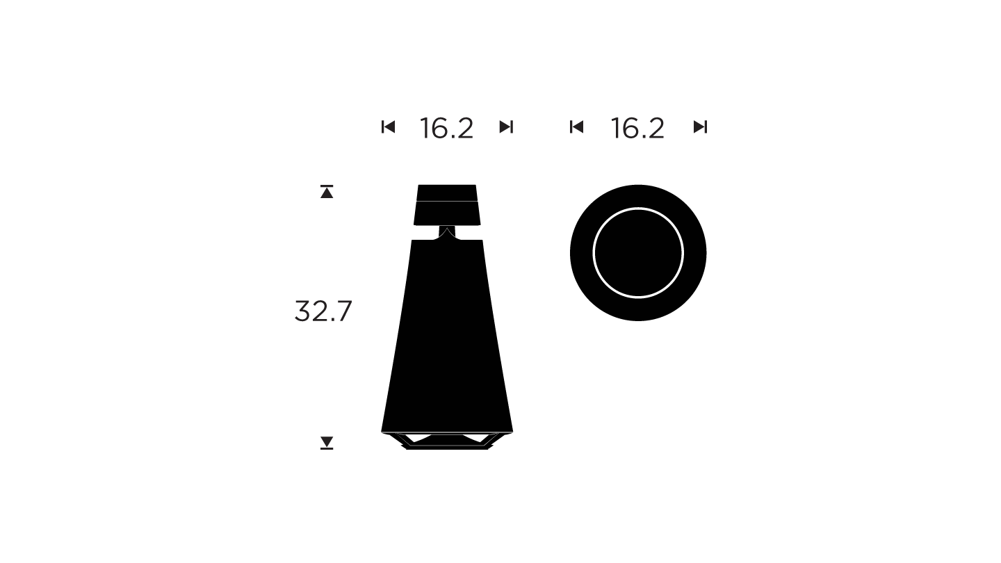 Beosound 1 - dimensions drawing