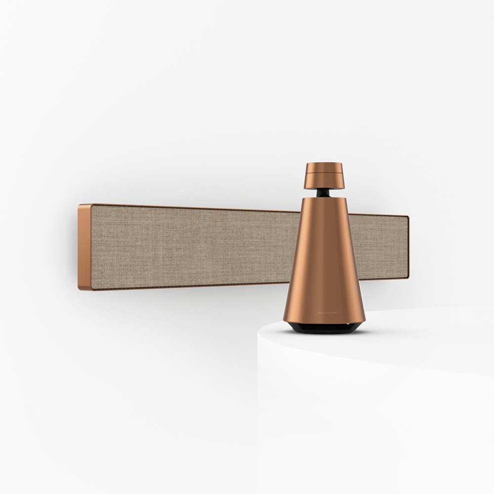 Beosound Stage and Beosound 1 in Bronze