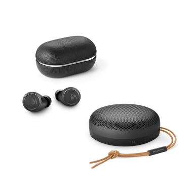 Beoplay E8 and Beosound A1 Bundle Black