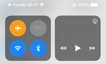 iPhone status bar shows Wi-Fi calling is activated