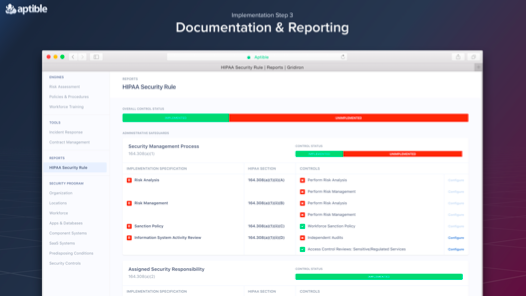 Gridiron provides complete documentation and reporting to help you show security and compliance.