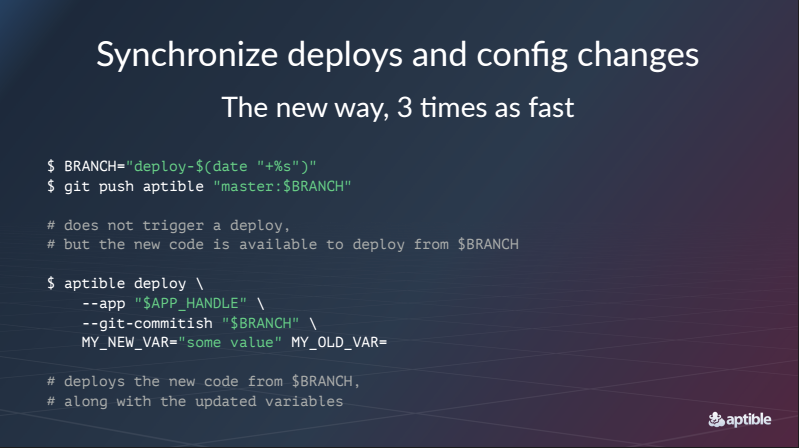 Synchronize deploys and config changes.
