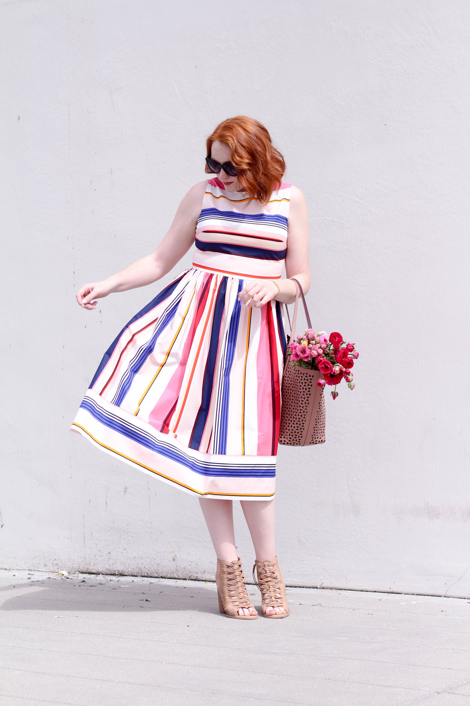 Berber Stripe Fit and Flare Dress