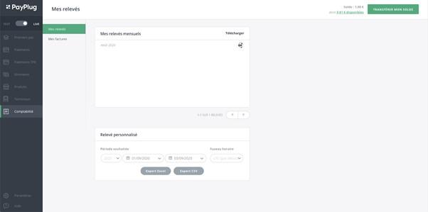 Blog - Payplug - Relevés mensuels sur le back-office PayPlug