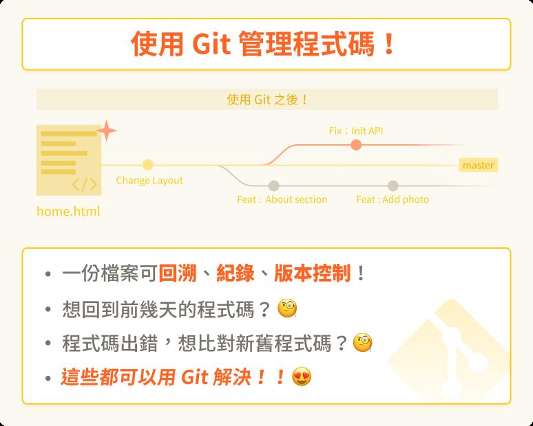 Git 課程內頁 - Banner 圖 - 使用 Git 之後