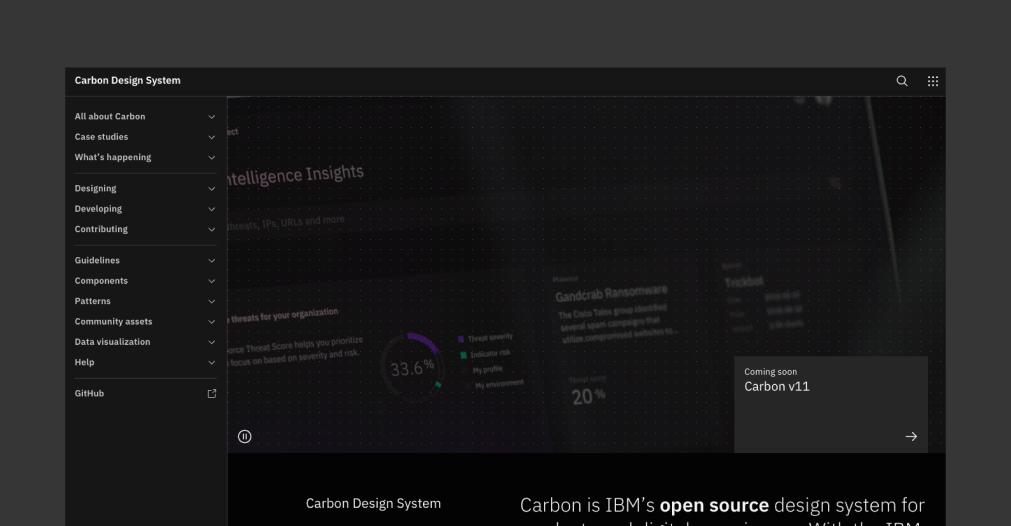 Carbon - 讓人心動的 6 個 React Design Systems