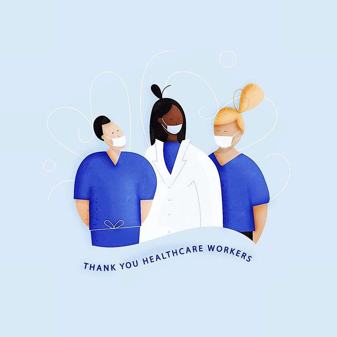 @steph_h_illustrates instagram: Thank You Healthcare Workers!