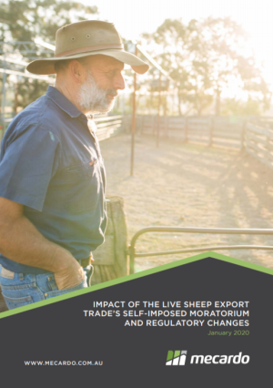 Impact of the live sheep export trade's self-imposed moratorium and regulatory changes