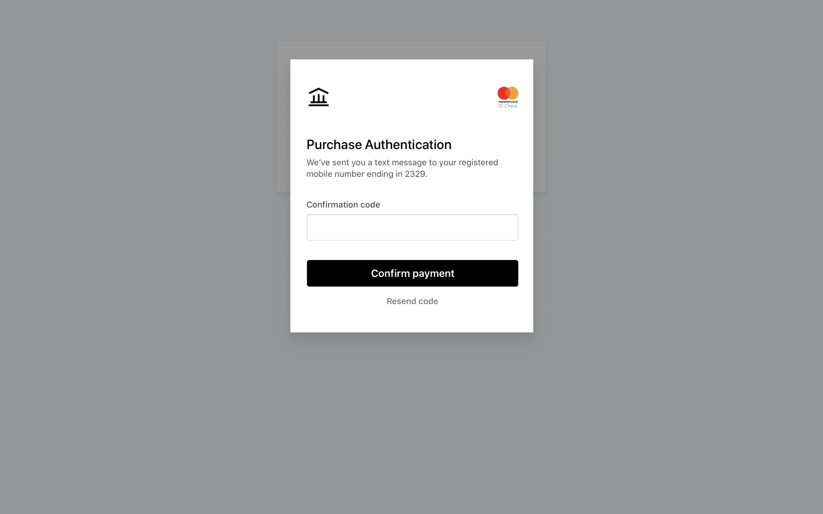 Bank Authentication UI