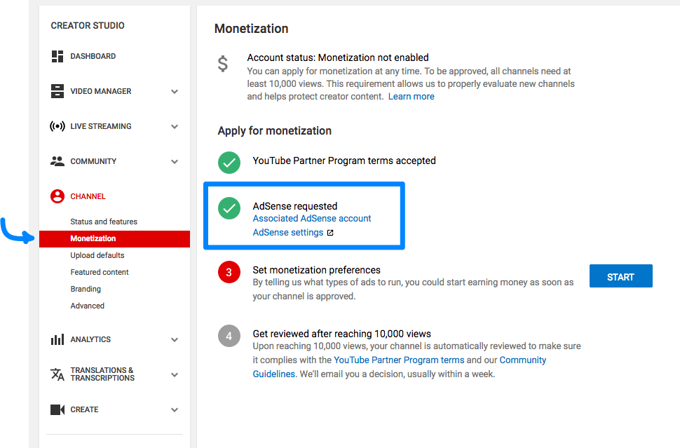How to set up an Adsense account