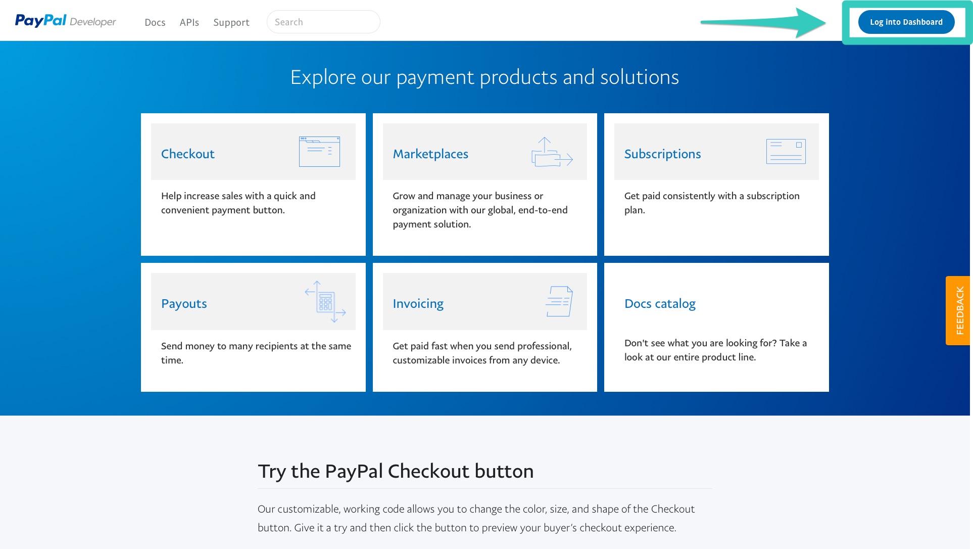 PayPal Dev Login