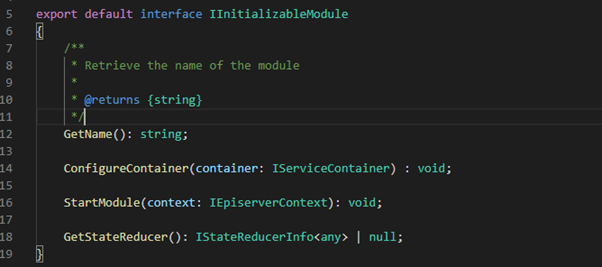 the IInitializableModule