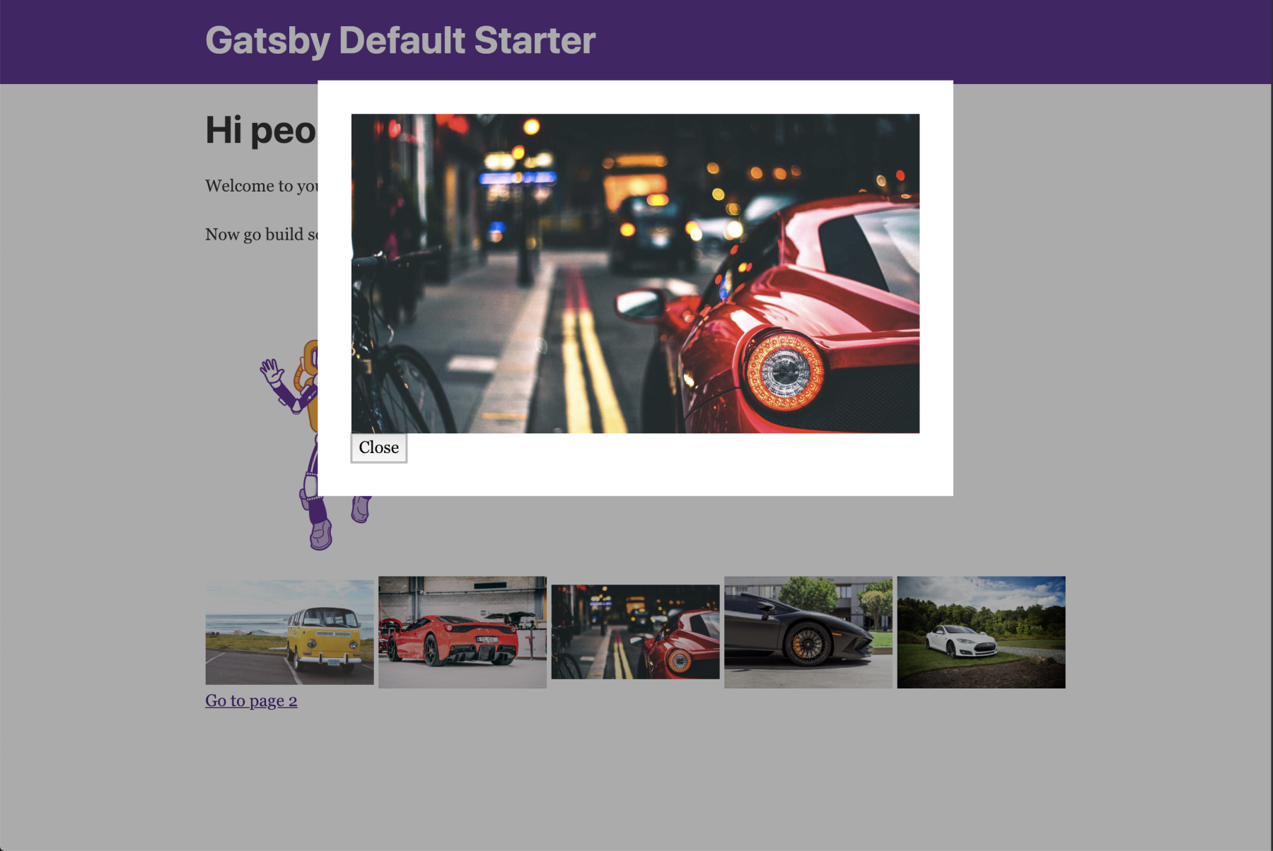 Building a custom, accessible image lightbox in GatsbyJS - 416serg