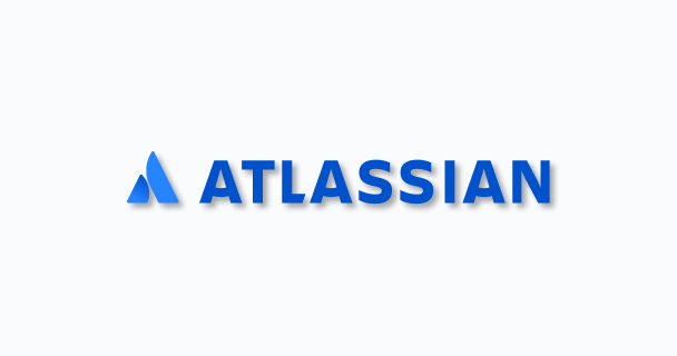 The Atlassian logo with a drop shadow.