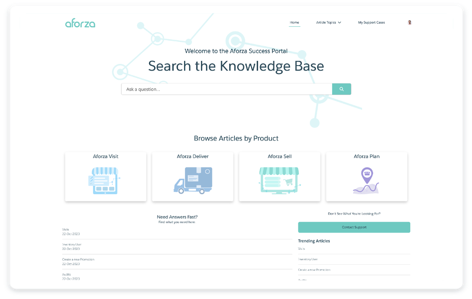 Aforza Knowledge Portal