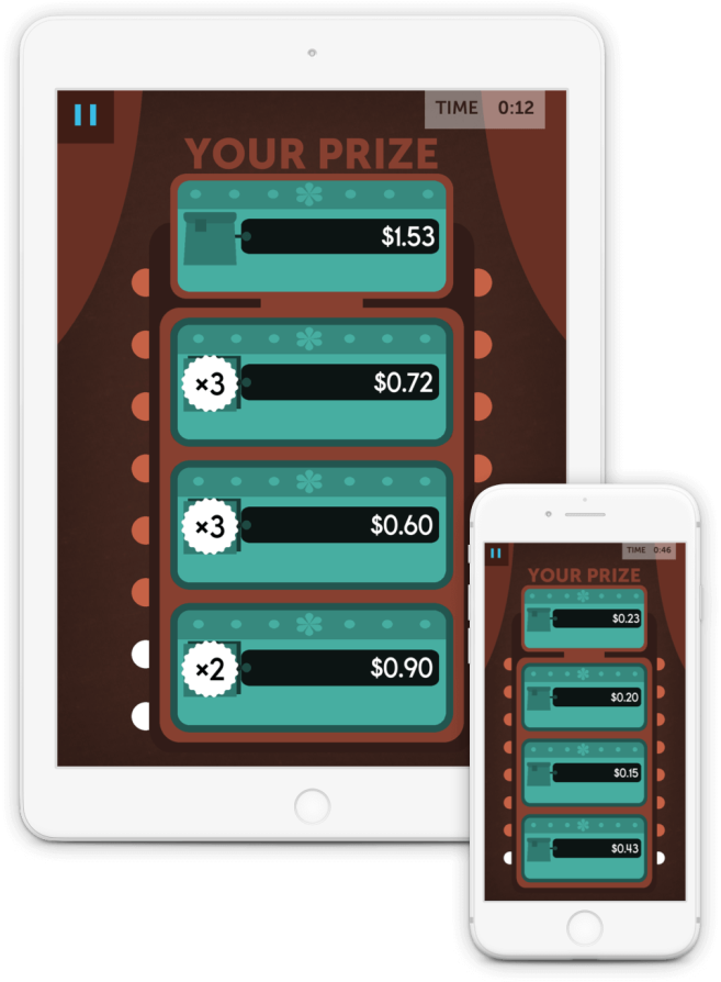Pick the most expensive prizes to exercise your quick estimation skills.
