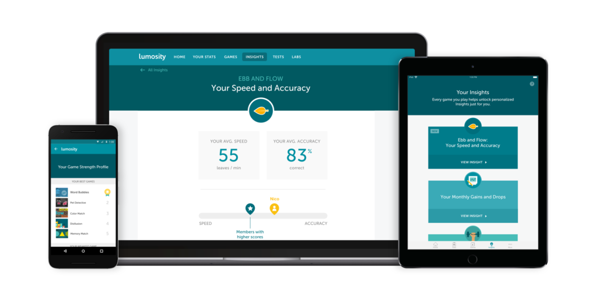 Lumosity Goes Beyond Brain Training to Launch Cognitive Insights