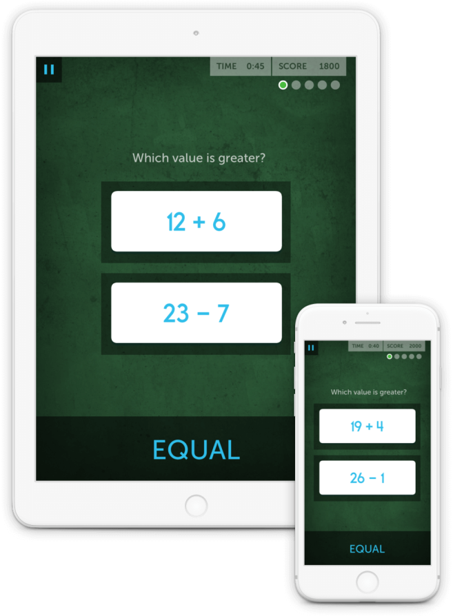 Chalkboard Challenge improves the quantitative reasoning and problem-solving skills needed to make smart decisions, including those involving finances.