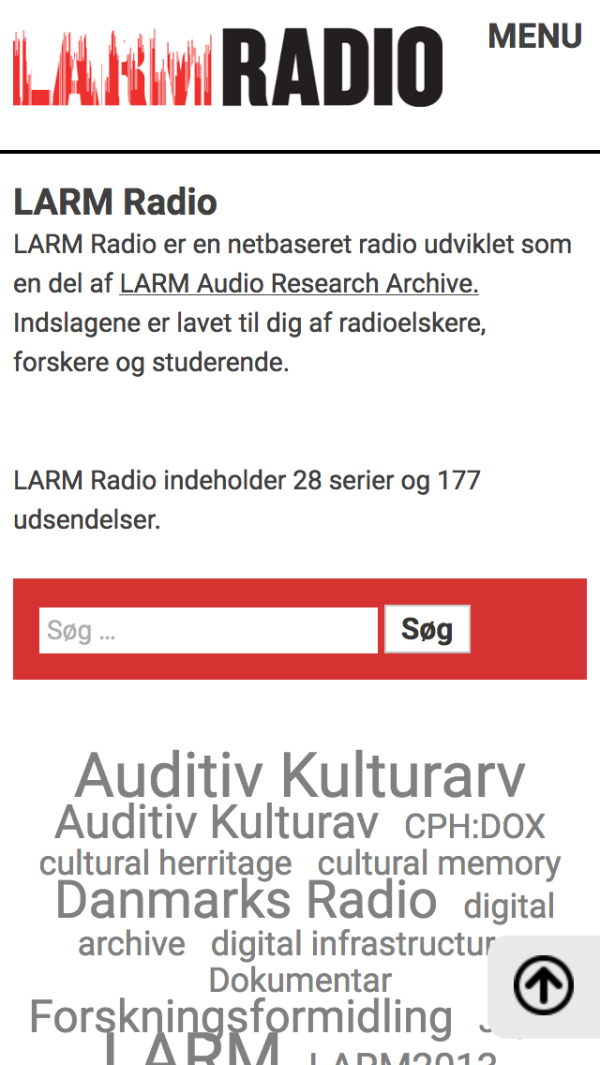 larmradio.sites.ku.dk - smartphone version