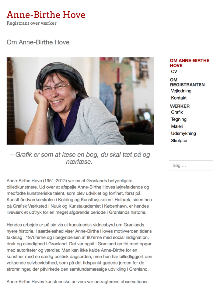 annebirthehove.com - tablet version