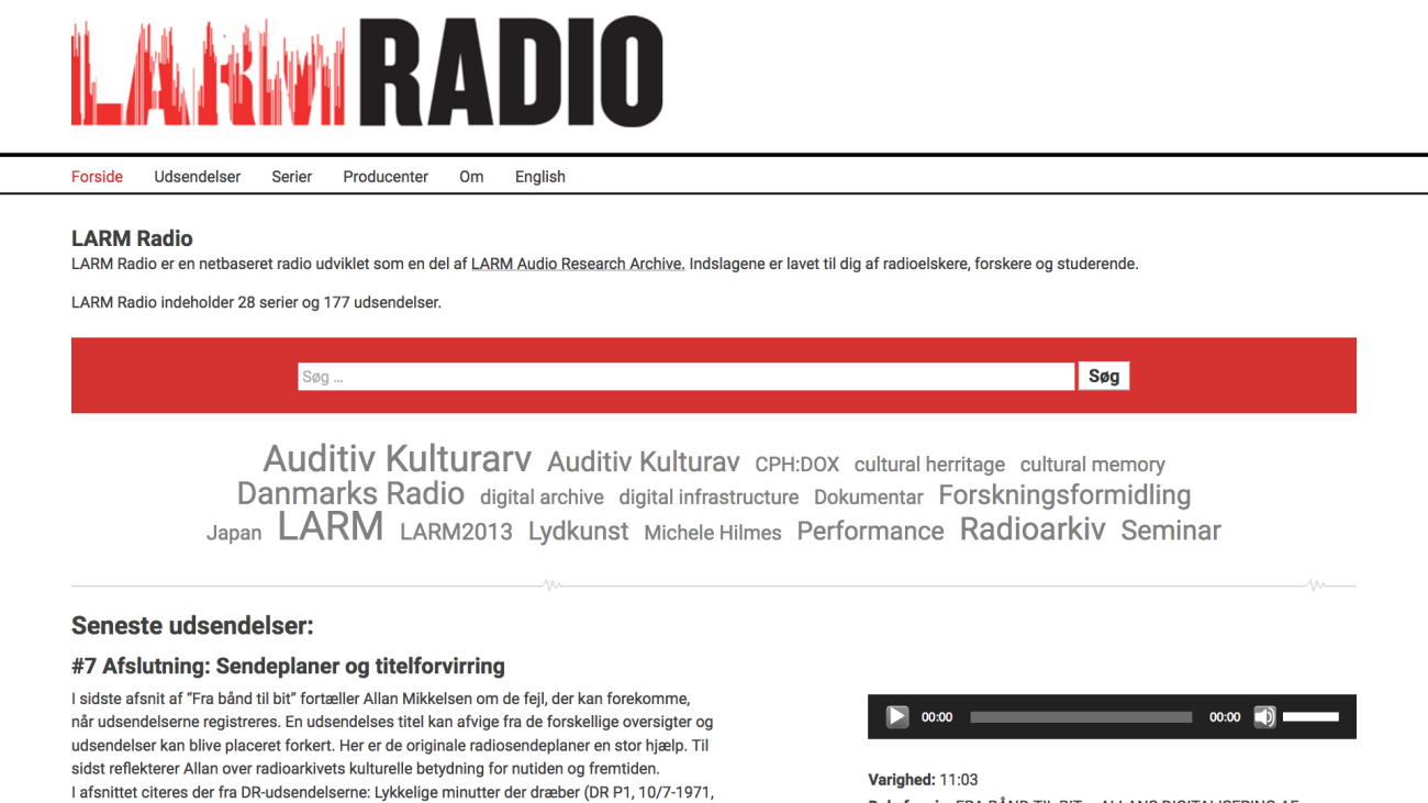 larmradio.sites.ku.dk - desktop version