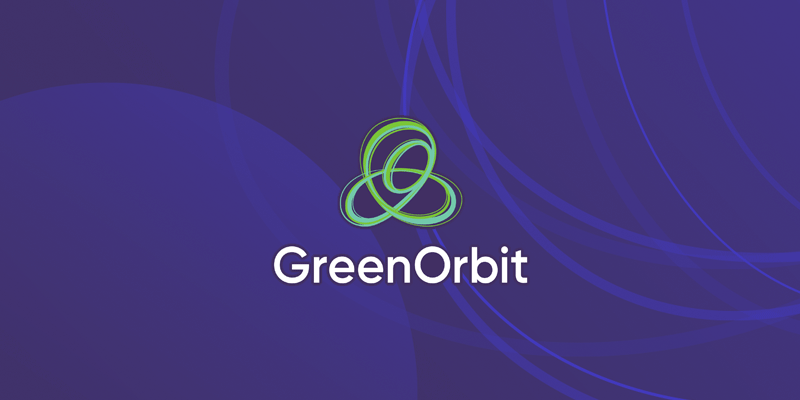 GreenOrbit branding including the logo design.