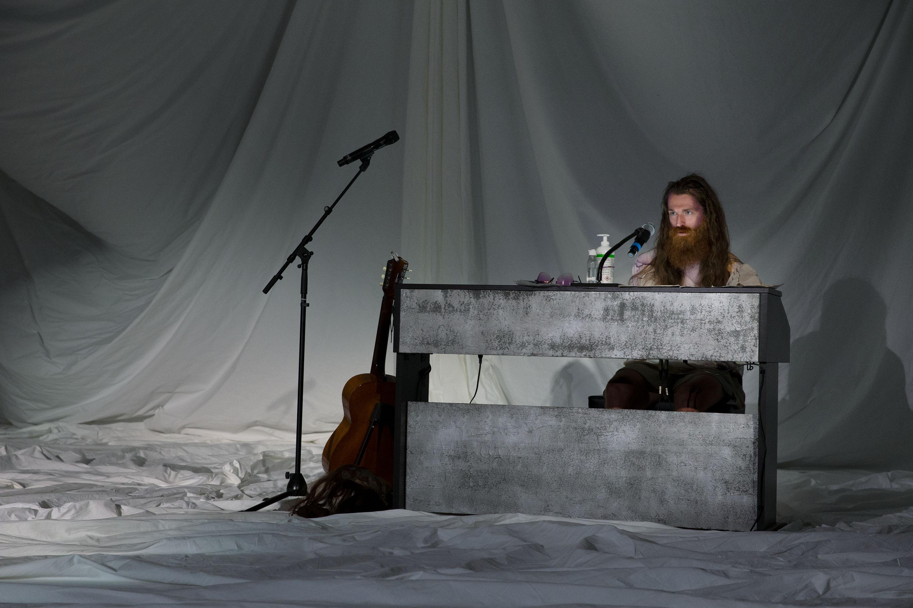 "Musician Johannes Rieder in ""Medea*""."